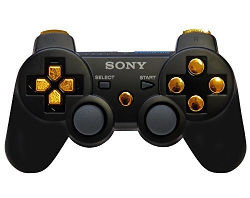 Black/Gold PS3 Rapid Fire Modded Controller 30 mods Quick Scope Sniper Breath + many more