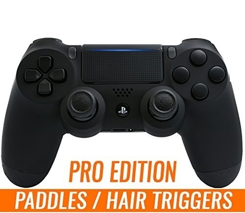 PS4 PRO Esports Professional Controller with Rubber Grip, Remapping 4 Paddles, Tactical Hair Triggers, Macros Technology for Playstation 4 / PC