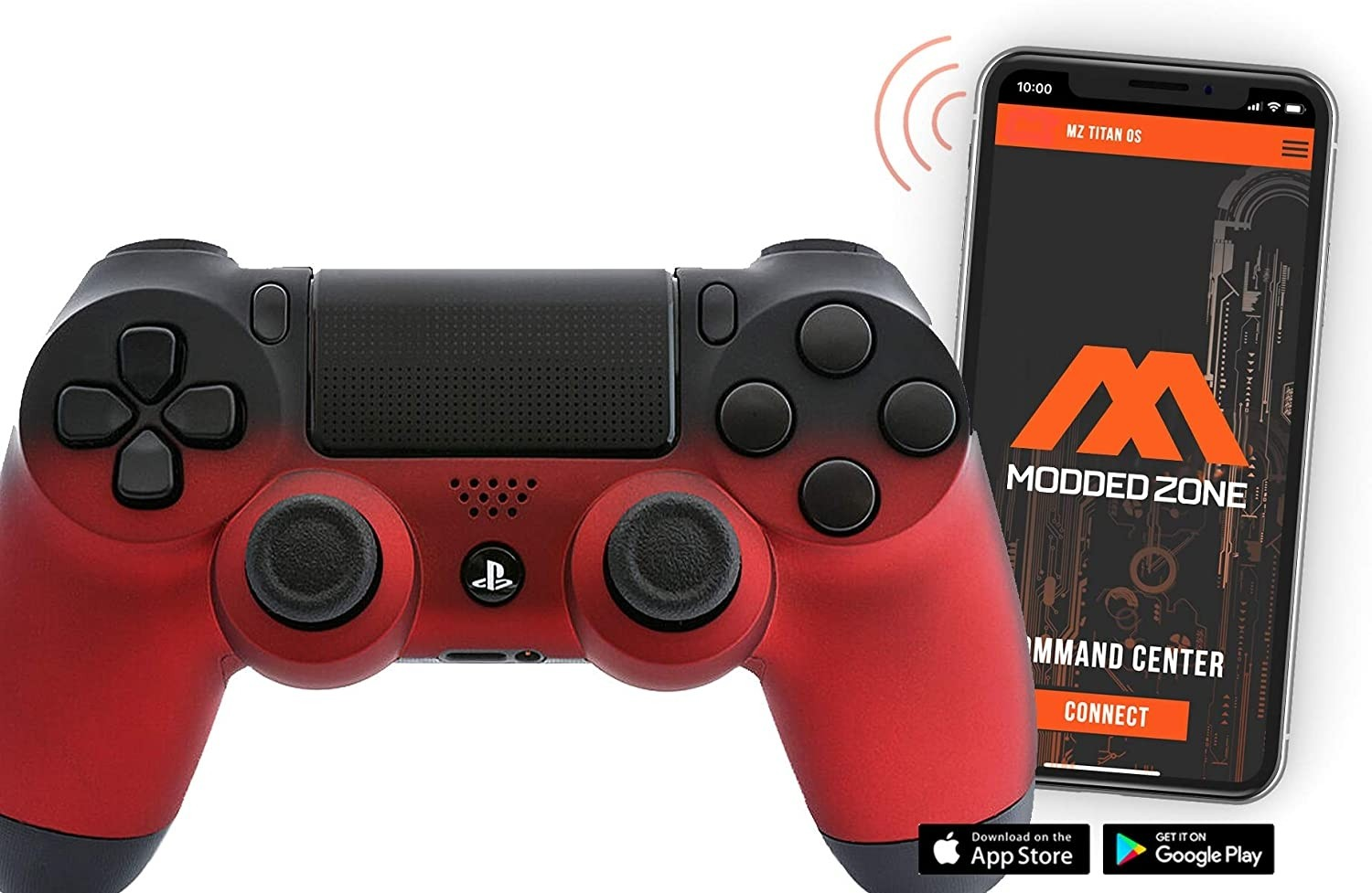 Red Shadow Smart PS4 PRO Rapid Fire Custom MODDED Controller