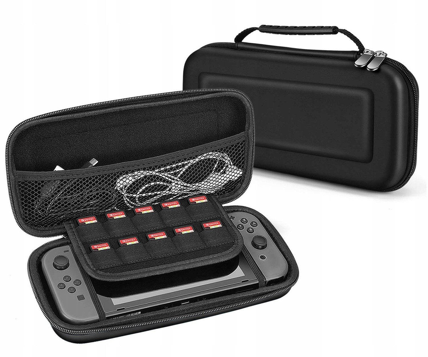 Hard Carrying Case EVA Pouch with Handle for NS Nintendo Switch – Black