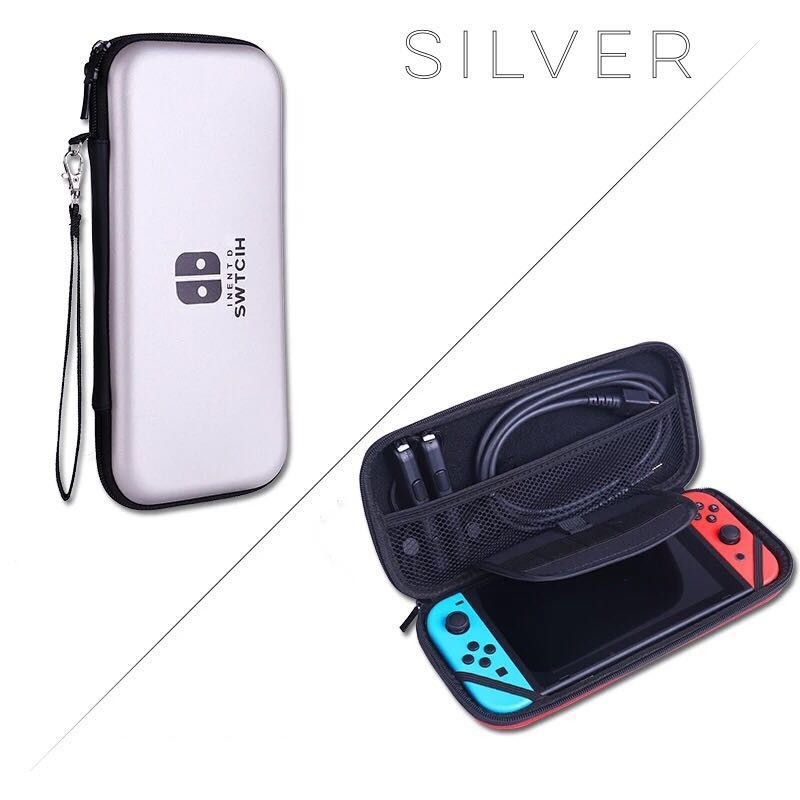 Hard Carrying Case EVA Pouch for NS Nintendo Switch – Silver
