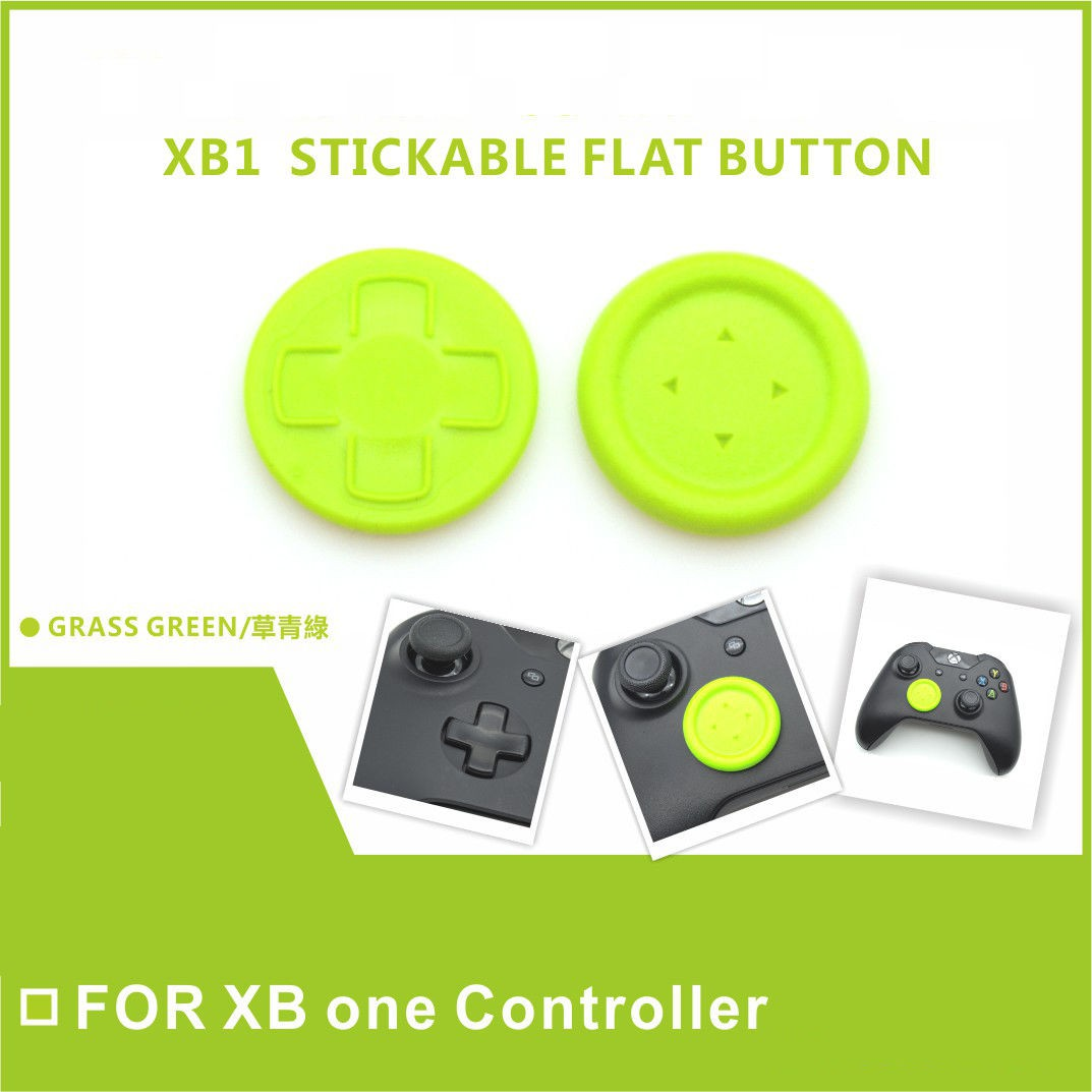 Xbox one Controller stick D-pad Flat Directional joystick Button Cap for XboxOne (Green)