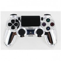 Chrome Silver Playstation 4 Custom Modded Controller