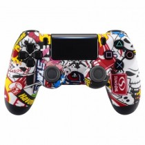 Sticker Bomb Soft Touch Playstation 4 V2 (new version) Custom Modded Controller