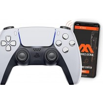 White/Chrome Playstation 5 PS5 DualSense Wireless Controller Smart Rapid Fire Modded Controller