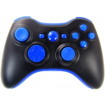 Black/Blue Xbox 360 Custom Modded Controller