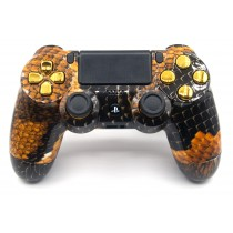 Gold Dragon Playstation 4 Custom Modded Controller