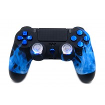 Blue Fire (Soft Touch) Playstation 4 V2 (new version) Custom Modded Controller