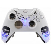 WHITE SKULLS Xbox One ELITE Rapid Fire Modded Controller 40 Mods for All Major Shooter Games