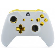 White/Gold Xbox One S Custom Modded Controller