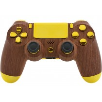 Golden Wood Playstation 4 V2 (new version) Custom Modded Controller