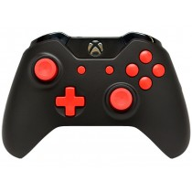 Black/Red Xbox One Custom Modded Controller