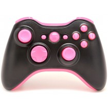 Black/Pink Xbox 360 Custom Modded Controller