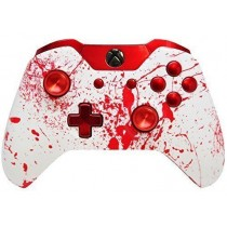 Bloody Splatter Chrome Red buttons Xbox One Custom Modded Controller