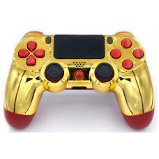 Gold/Red Playstation 4 V2 (new version) Custom Modded Controller