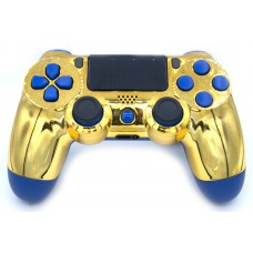 Gold/Blue Playstation 4 V2 (new version) Custom Modded Controller
